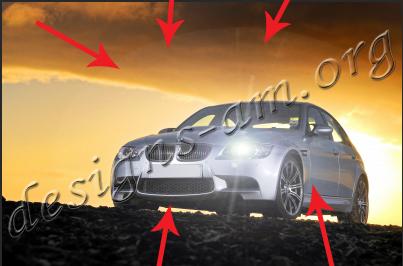 Урок: Постигане на ефект за включени фарове на кола